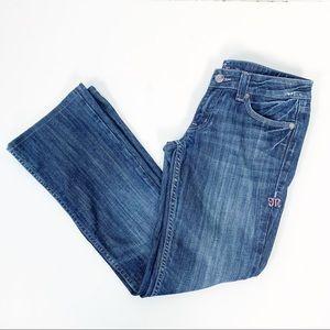 Miss Me | Dark Boot Cut Jeans Pink Stitching SZ 30